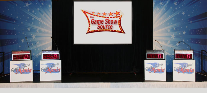 Game Show with backdrops on 24' stage