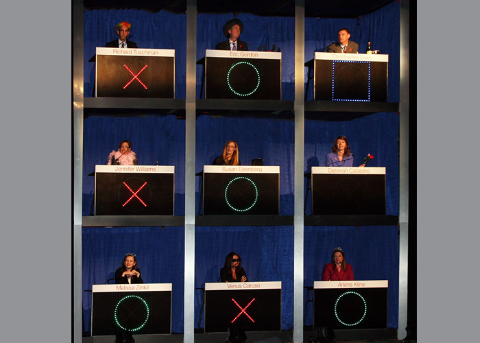 The Celebrity Squares set is 18' X 18'