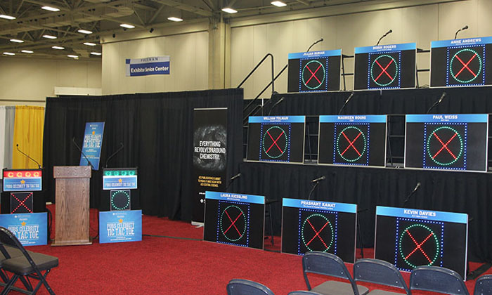Celebrity Tic Tac Toe at Trade Show