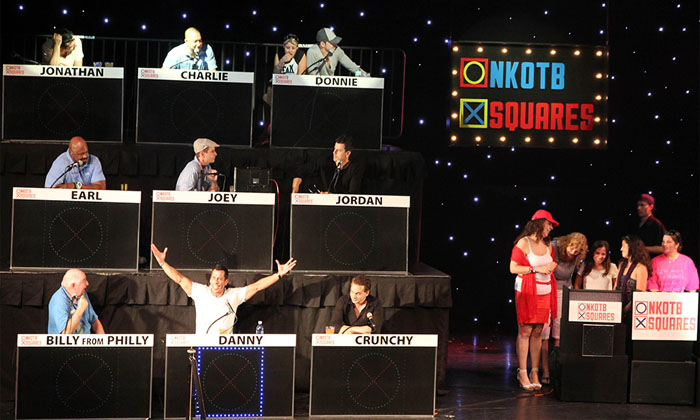 NKOTB Celebrity Tic Tac Toe Stage