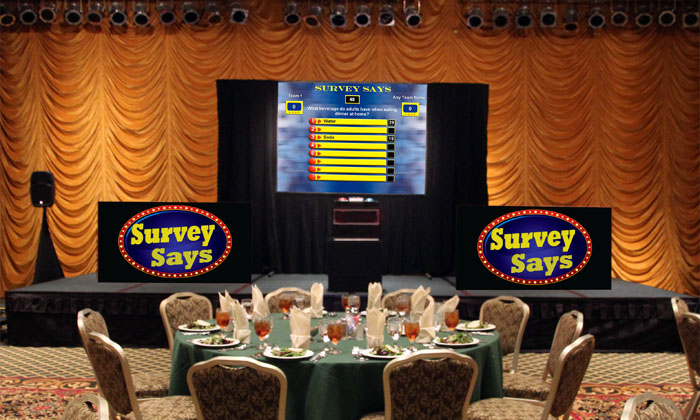 Awards Banquet with Survey Says in Indiana
