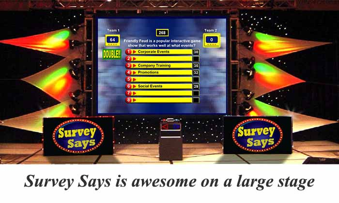 Survey Says on a large stage