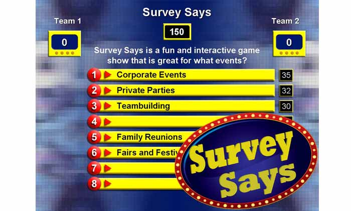 Survey Says-Corporate Events, Teambuilding, Reunions and Fairs