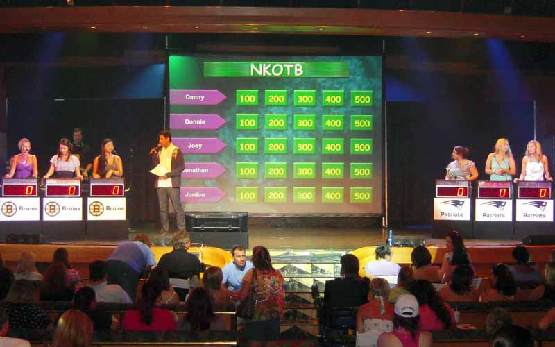 NKOTB fans play The Challenge