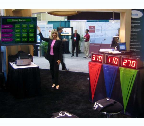 Trade Show Booth Builders : Live game show rental host for trade shows in florida