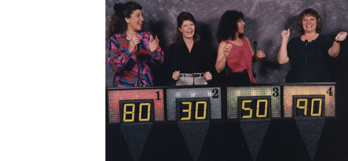 Our third generation game show system back in the early 1990's