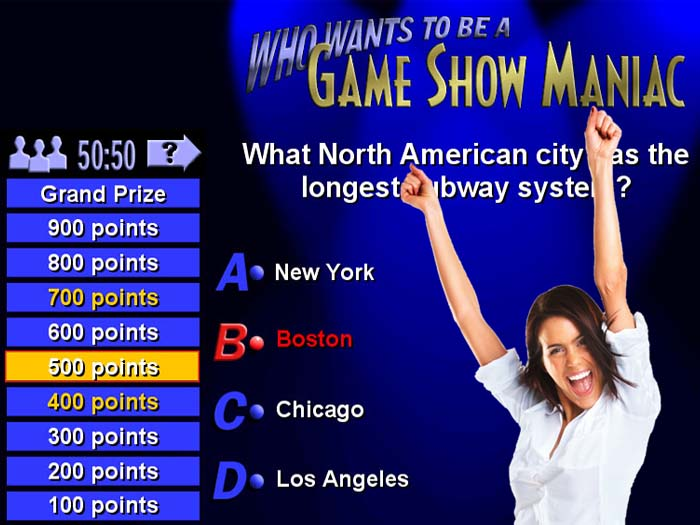 Who Wants to be a Game Show Maniac