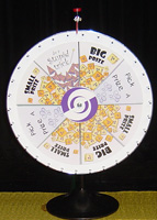 Prize Wheel at event