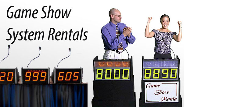 Game Show rental systems and equipment